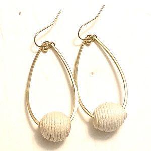 White Gold Dangle Earrings